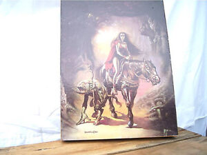 Vintage Boris Vallejo Art Puzzle - 1982 Witch and Her Familiar A