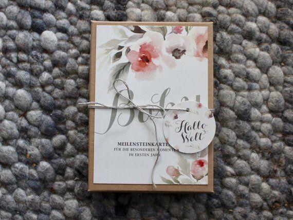 Baby-Meilensteinkarten Wildflower
