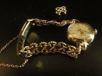 Rolex Ladies 9ct gold precision wristwatch,..with pierced bracelet and two spare links WITH BOX