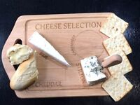 Cheese Selection Wooden Chopping Board | Cheese and crackers | CHEESE BOARD - Only £5 !!