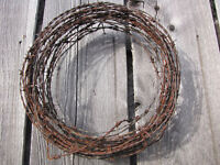 Vintage Western-Mountaineer Rusty Barbed Wire Wreaths