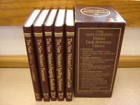 VINTAGE 1986 WEBSTER'S DELUXE DESK REFERENCE LIBRARY