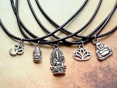 Choker Necklace With Charm Om Buddha Ganesha Lotus Sitting Buddha