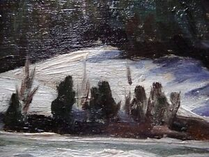 "Original Oil Painting, H. Oswald Stacey , OAC ""The River"" 1950 Stratford Kitchener Area image 3"