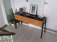 Vintage Mid Century Credenza Sideboard Sofa Table Desk Piano Keyboard Stand / Changing Table
