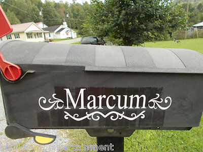 Vinyl Personalized Mailbox Decal Made To Order  - $7.00