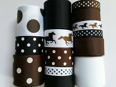 Wholesale grosgrain ribbon lot mix, horse mix print