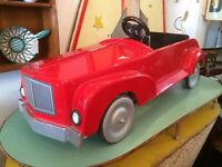 1970s solid wood Rolls Royce Pedal Car in racing red! Vintage/Retro/Mid Century