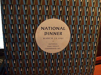 National Coal Policy Conference March 29  1961   10  Vinyl Lp Nice Retro Cover