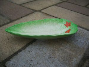 Antique Beswick Ware Runner Bean Leaf Dish England