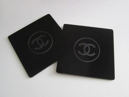 Two Chanel Drink Coasters Acrylic NEW