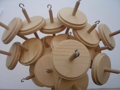 Heidifeathers®  Wooden Drop Spindles Or Spindle - For Hand Spinning, Top Whorl