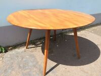 1970s original Ercol drop leaf Dining Table. Vintage / Retro / Mid Century