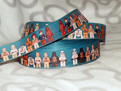 """Star Wars Lego Ribbon 1"""" or 25mm wide 1m is only £1.29 NEW FREE P&P"""