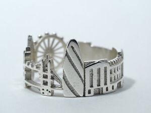 London skyline sterling ring