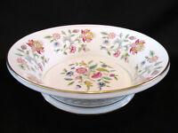 Minton Haddon Hall Fruit Bowl Basket Weave with Gold Trim English Bone China