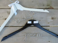 Personalized Wedding Bridal Hangers, Garter Sets and Wine Charms