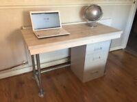 Reclaimed Scaffold board office desk 4ft x 2ft
