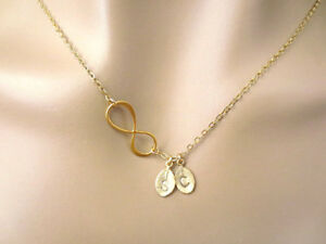 Personalized, Initial, Sideways, Infinity, Necklace