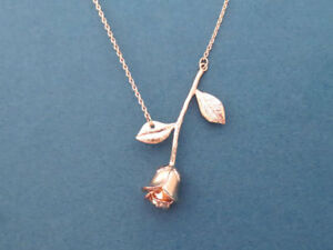 Beautiful, Rose gold, Rose, Necklace, Flower, Necklace