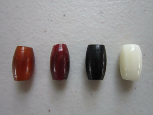 "100 Buffalo Bone/Horn 1/2"" Hairpipe Beads Amber, Black Red  White Jewelry/craft"