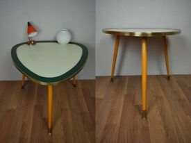 Stunning Vintage 1950s Kidney Table/ Side Table/ Coffee Table- Unique Atomic Era Design