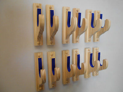 """Wall Mount Gun Rack - #1 Select Pine 6 Sets 1 1/2"""" Diam. Hooks Unfinished  for sale  Shipping to Canada"""