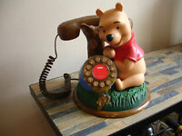 Vintage Disney Winnie the Pooh Telephone Excellent Working Cond