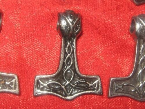 VIKINGS THORS HAMMER STEEL ODIN MJOLNIR NORSE MYTHOLOGY PENDANT  CHARM NECKLACE