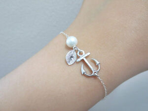 Initial, Sterling, Silver, Chain, Anchor, Bracelet Regina Regina Area image 3