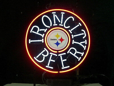 Pittsburgh Steelers Nfl Neon Sign - New Iron City Beer Pittsburgh Steelers Go steelers NFL Neon Sign 24