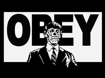 Obey They Live Window Decal Sticker John Carpenters Zombie Horror Sci Fi 8X4 5