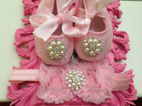 baby shoes, rhinestone crib shoes, first walker lace shoes