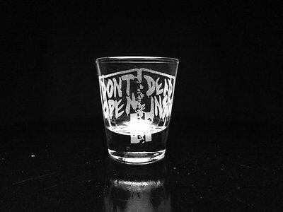 Walking Dead Shot Glass- Zombies- Door- Rick- Etched