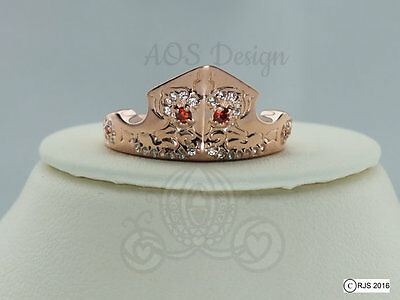 Aurora Sleeping Beauty Ring Rose Gold Tiara Princess Disney Crown Maleficent ](Princess Aurora Tiara)