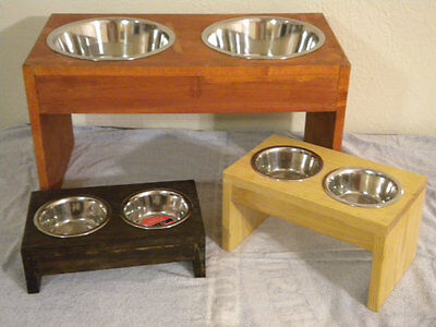 Raised dog feeder, single bowl, dog bowl holder, pet bowl stand, raised bowl