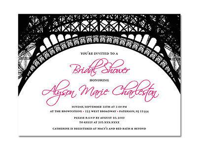 Paris Themed Invitations - Paris Themed Invitations