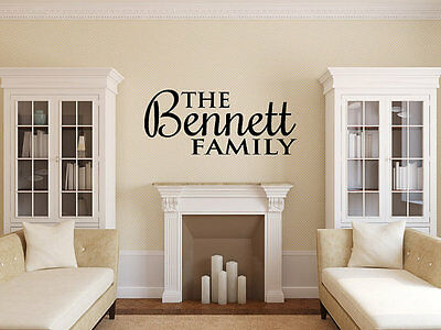 Personalized Family Name Wall Decal Monogram #18 Living and Family Room Vinyl