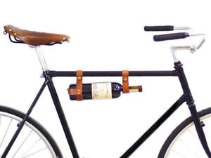 Wine bottle holder for bicycle