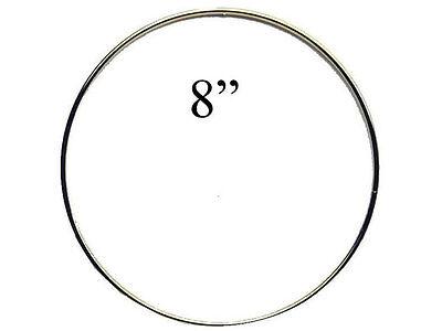 """8"""" Macrame Metal Ring Hoop Brass"""