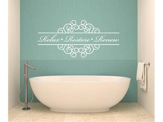 Relax Restore Renew Bathroom Vinyl Wall Decal #1 Graphics Ho
