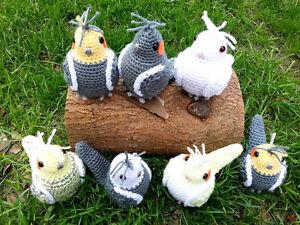 Crochet Parrots - Perroquets fait au crochet