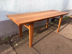 1960s Wilhelm Renz Maple Coffee Table, with Hot Plate Pull Outs. Vintage/Retro/Mid Century