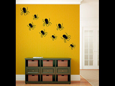Halloween Living Room Decor (Spiders Vinyl Wall Decal Graphics Bedroom Living Room Home Decor Halloween)