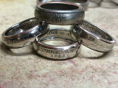 US State Quarter Coin Ring ANY STATE Sizes 4-14 HIGHEST QUALITY!