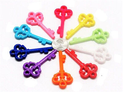 25 Colorful Large Plastic Keys- Bird Toys  Parrot Toys & Bird Toy Parts -2-3/8''