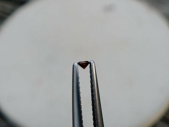 Cognac Red Natural Diamond Loose Faceted Round 2mm