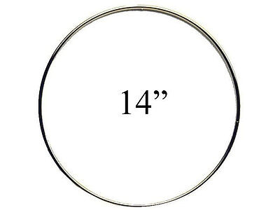 """14"""" Macrame Metal Ring Hoop Brass"""