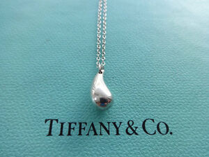 Tiffany Elsa Peretti Sterling Silver Teardrop Necklace