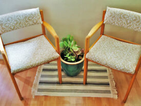 Cushioned Dining Chairs x 2